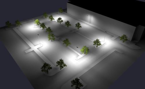 Photometric Drafting - Parking Lot Lighting