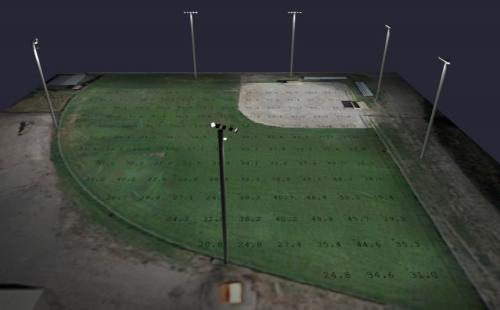Photometric Drafting - Sports Lighting Application - Little League Baseball Lighting